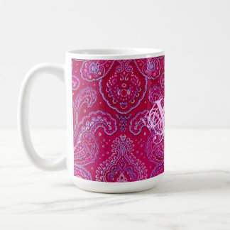 Pretty Paisely monogram Classic White Coffee Mug