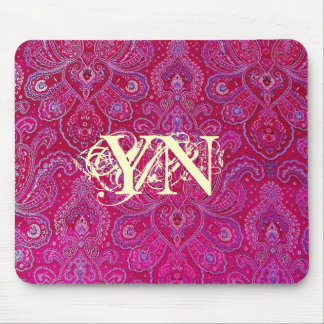 Pretty Paisely monogram Mouse Pad