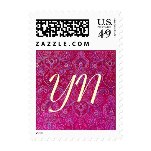 Pretty Paisely monogram Postage