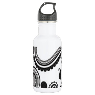 Pretty paisley design stainless steel water bottle