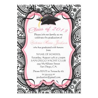 Pretty Paisley Graduation Invitation