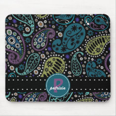 Pretty Paisley In Rich Peacock Colors Mouse Pad at Zazzle