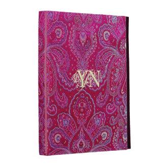 Pretty Paisley monogram iPad Folio Covers