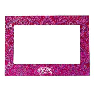 Pretty Paisley monogram Magnetic Frame