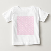 Pretty pale pink damask pattern with white. baby T-Shirt