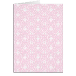 Pretty pale pink damask pattern with white. greeting card