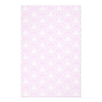 Pretty pale pink damask pattern with white. flyer