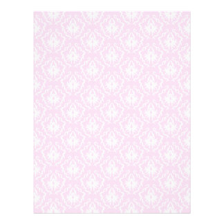 Pretty pale pink damask pattern with white. letterhead