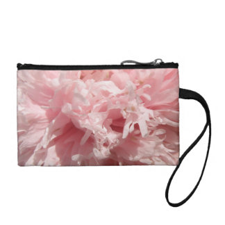 Pretty Pale Pink Poppy Bagettes Bag Coin Wallets