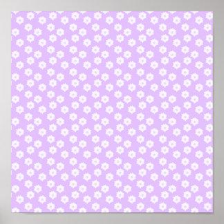 Pretty Pale Purple Floral Pattern. Print