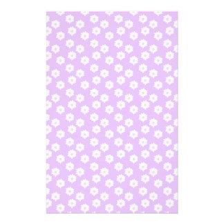 Pretty Pale Purple Floral Pattern Stationery Design