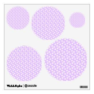 Pretty Pale Purple Floral Pattern. Wall Sticker