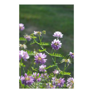 Pretty Pale Purple Vetch Flowers in the Garden Personalized Stationery
