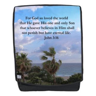 PRETTY PALM TREES JOHN 3:16 INSPIRING BACKPACK