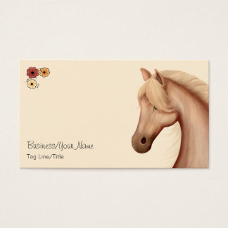 Pretty Palomino and Flowers Horse Business Card