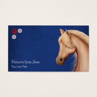 Pretty Palomino and Flowers Horse Business Cards