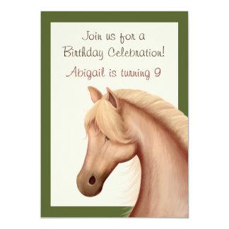 Pretty Palomino Horse Birthday Invitation ~ Girls