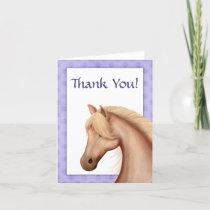 Pretty Palomino Horse Purple Thank You