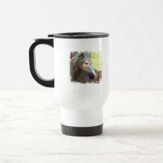 Pretty Palomino Plastic Travel Mug