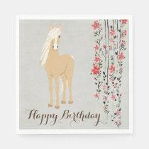 text and Pom Poms QHP geburtstagshut Horse Hat with /'Happy Birthday /'