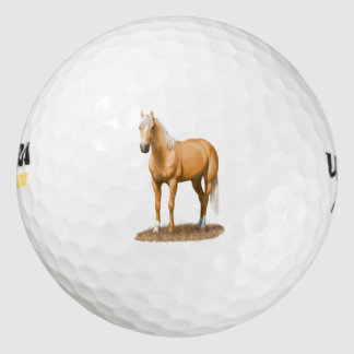 Pretty Palomino Thoroughbred Quarter Horse Golf Balls