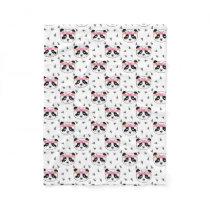 Pretty Panda Blanket - girls floral crown panda