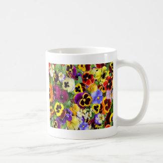 Pretty Pansies Classic White Coffee Mug