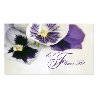 Pretty Pansies Florist Shop Business Cards Pack Of Standard Business Cards