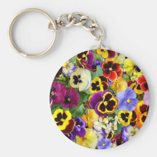 Pretty Pansies Keychain