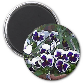 Pretty Pansies Magnet