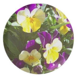 Pretty Pansies Melamine Plate