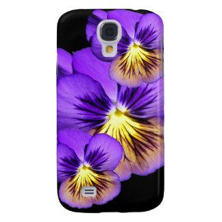 Pretty Pansies Samsung S4 Case