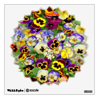 Pretty Pansies ~ Wall Decal