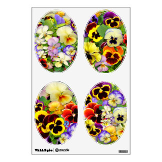 Pretty Pansies ~ Wall Decals (Oval)