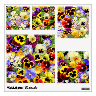 Pretty Pansies ~ Wall Decals (Square)