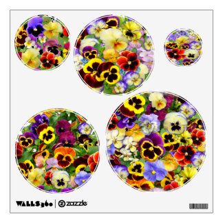 Pretty Pansies ~ Wall Decals
