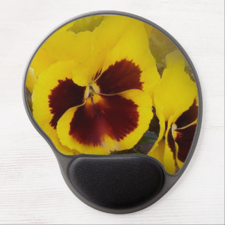 Pretty Pansies Yellow 1 Gel Mouse Pad