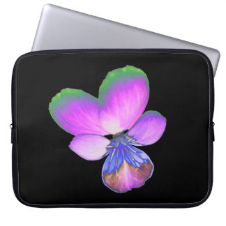 Pretty Pansy Laptop Bag