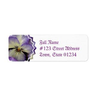 Pretty Pansy Return Address Mailing Label Return Address Label