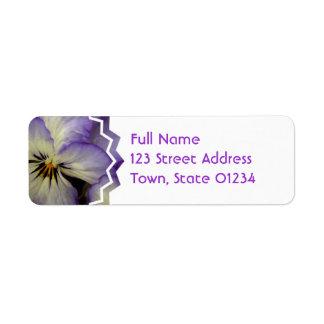 Pretty Pansy Return Address Mailing Labels