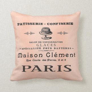 Pretty Paris French Patisserie Antique Art Pillow