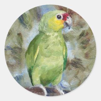 Pretty Parrot Classic Round Sticker