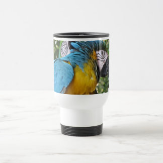 Pretty Parrots 15 Oz Stainless Steel Travel Mug