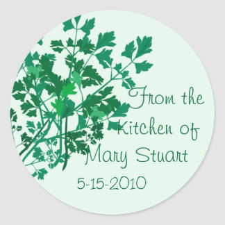 Pretty Parsley Decorated Canning Labels Sticker