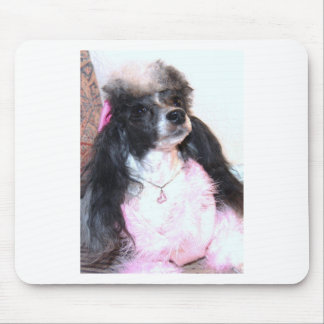 Pretty Parti Poodle in Pink Mouse Pad