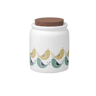 Pretty Partridges Candy Jar