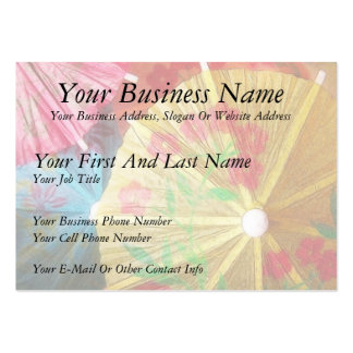 Pretty Party Parasols Large Business Cards (Pack Of 100)