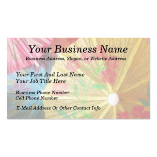 Pretty Party Parasols Double-Sided Standard Business Cards (Pack Of 100)