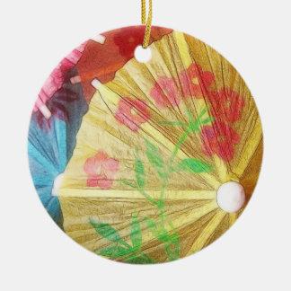 Pretty Party Parasols Ceramic Ornament
