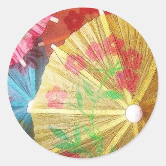 Pretty Party Parasols Classic Round Sticker